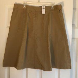 NWT L.L. Bean khaki skirt